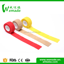 Good tensile strength latex-free colored cohesive elastic bandage wrap for people
