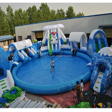 Summer Hot Sale bear Inflatable Swimming Pool Inflatable Water Park Water Park Slide