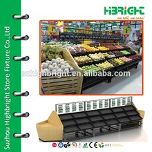Supermarket Bananas Metallic Display Stand Fruit Rack