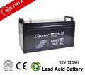 Lead acid deep cycle 12v 120ah battery for solar power system