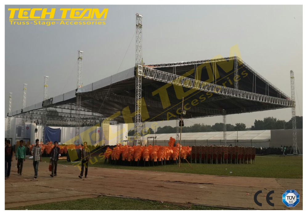 Truss Elevator Tower Aluminum Truss Sleeve Blocks , aluminum lifting truss