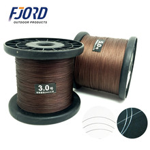FJORD 500M Top Wear Resistance Strong Restoring Force Stainless Steel or Nylon Wire Core PE 4 Stands Braided Fishing Line