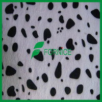 100 polyester cow print velboa animal print fleece fabric