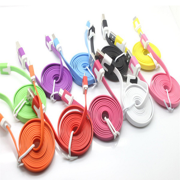mobile phone Micro micro usb charging cable for Samsung flat usb midi cable
