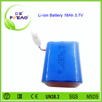 Rechargeable 3.7v 18ah solar garden light lithium battery pack