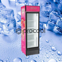 promotional 410L energy drink refrigerator commercial cooler for beverage
