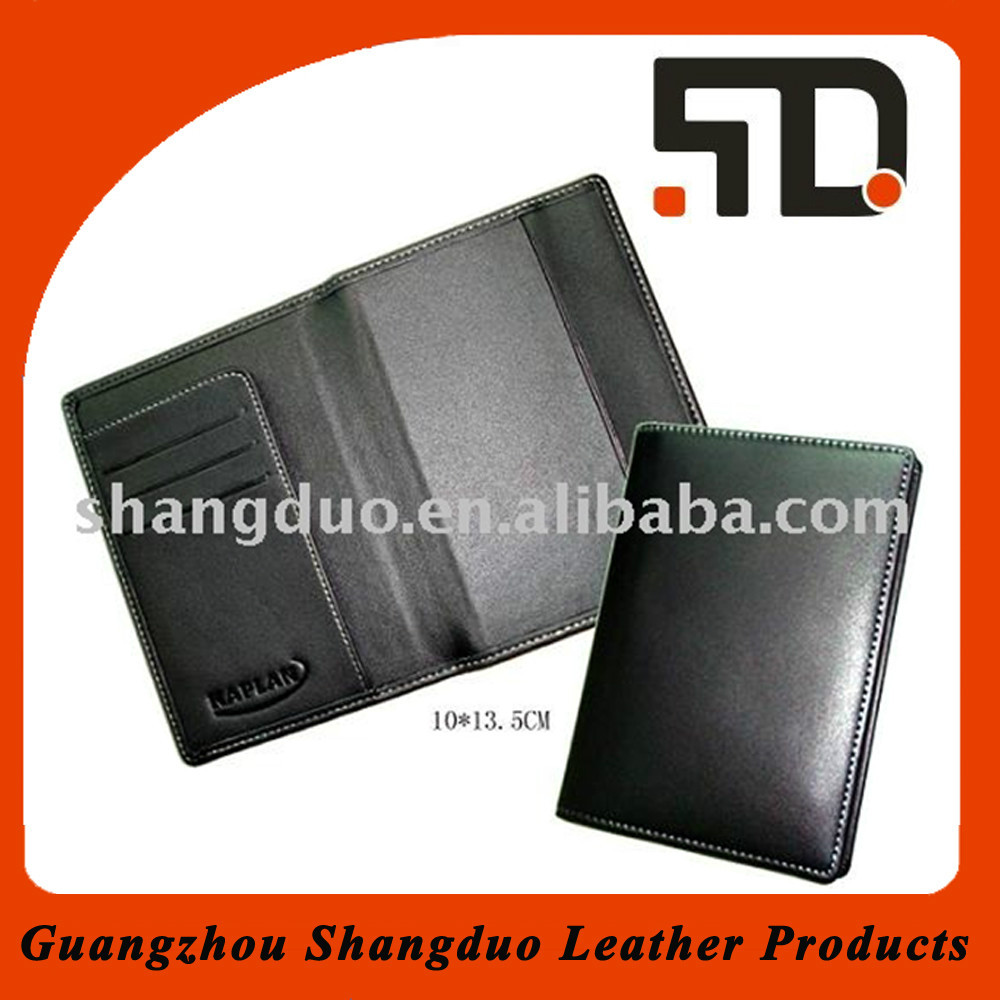 Excellect Handmade Craft Simple Style Leather Passport Wallet