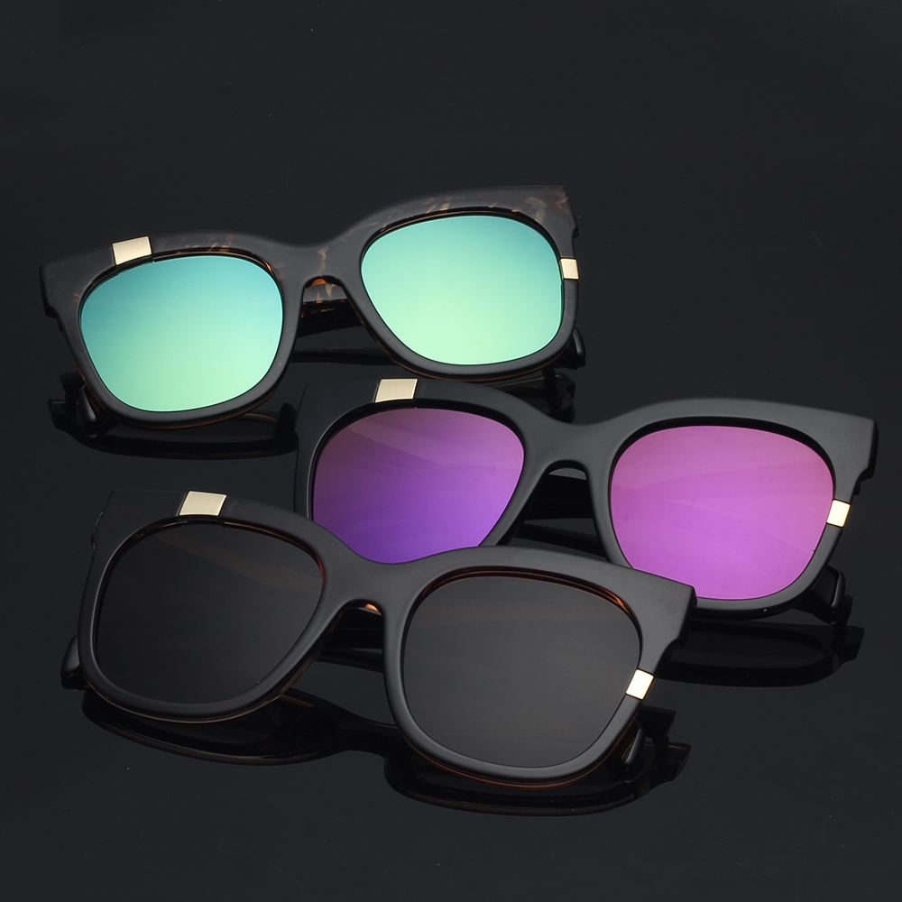 China Merchandise PC Sunglasses Shades Plastic Eyewear Brand Mirror Round Women's Order Sunglasses