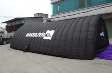 Newly Custom double layers PVC inflatable tunnel tent for sports