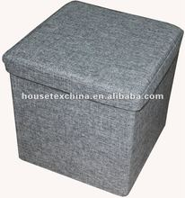 beautiful! grey dyed yarn fabric foldable storage pouf