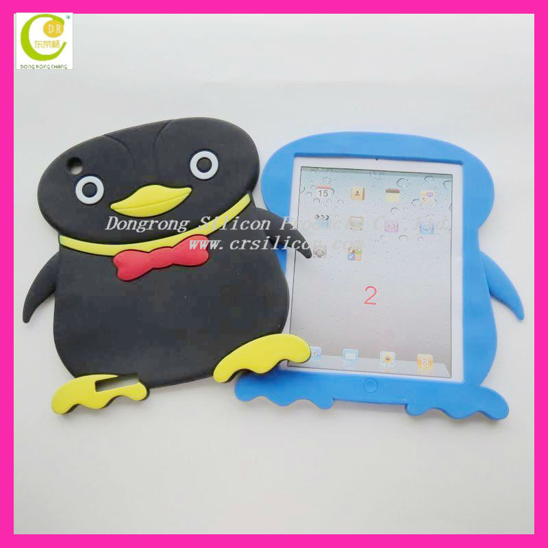 Girl Choice Color Penguin Shape Silicon Case Cover for iPad Mini
