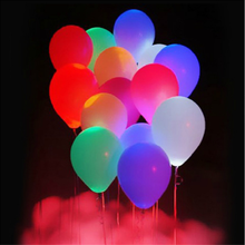 Party Favors Factory Direct Inflatable Latex LED Balloon,logo printing round shape and heart shape flashling led balloon lights