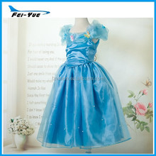 2015 hotsale most popular princess costumes 4 layer high quality gilrs Cinderella Dresses