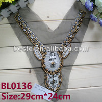 beading neck trim&women beaded collar