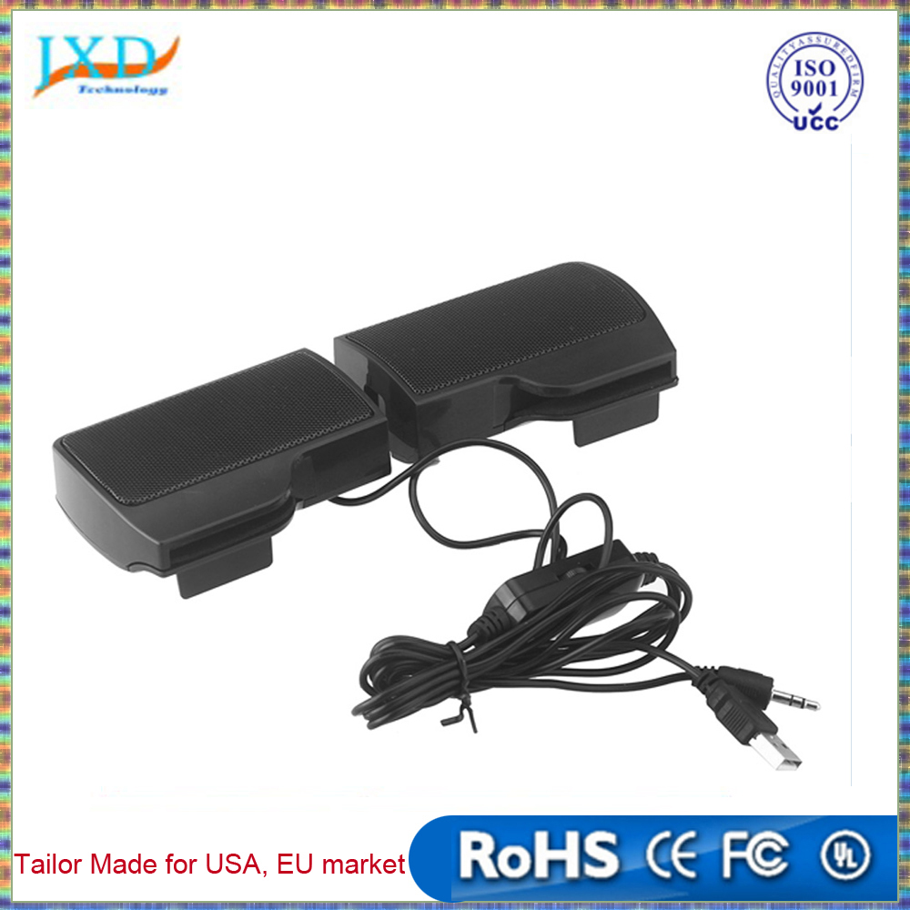 Mini Portable USB Stereo Speaker Soundbar for Notebook Laptop Mp3 Phone Music Player Computer PC with Clip