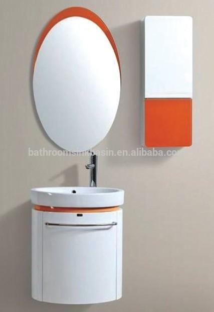 Pvc armário de banheiro com bacia de vidroparede montado pvc armário de ban -> Armario Para Banheiro Pvc