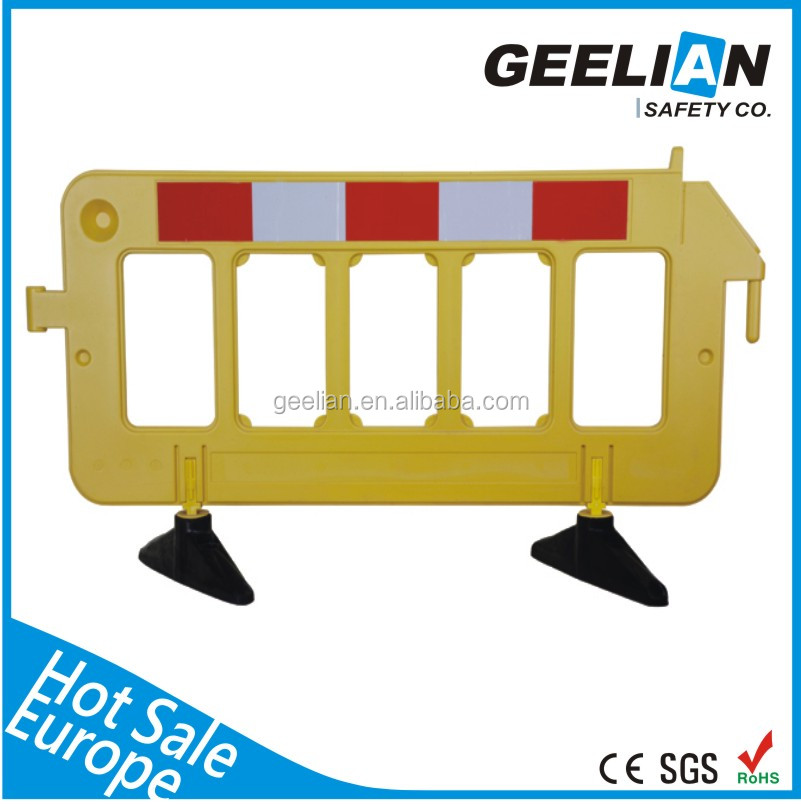 Security Systems Safety pedestrian traffic temporary pedestrian control fence plastic road barrier /parking barrier
