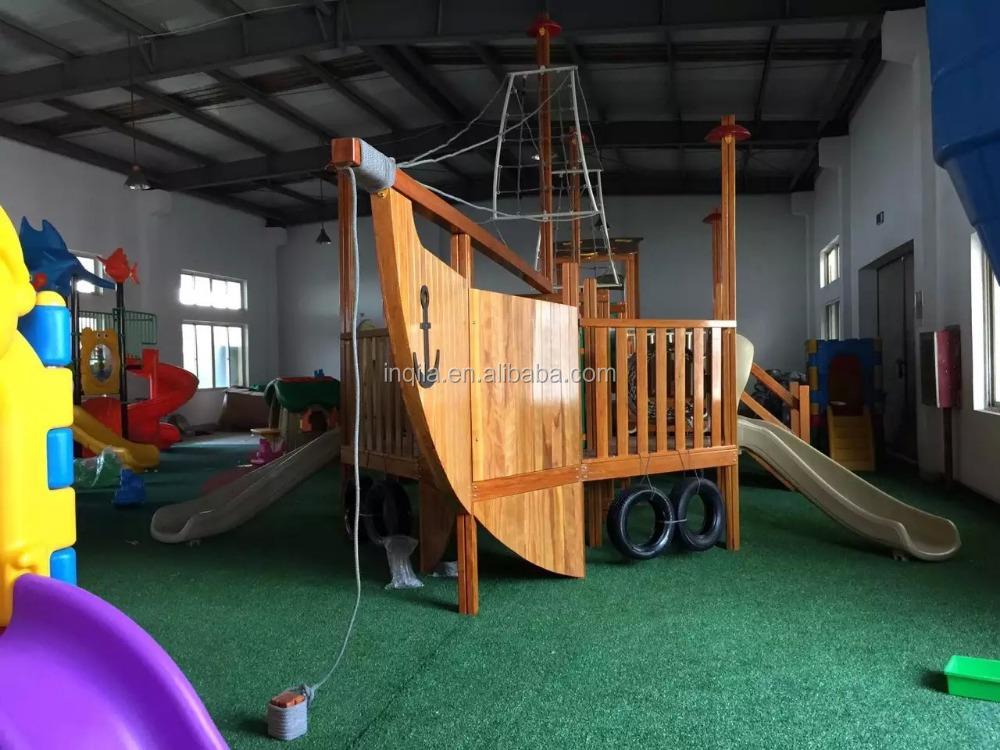 Large outdoor playground equipment children wooden pirate - Pirate ship wooden playground ...