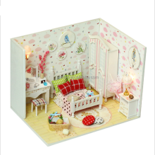 Diy Wooden Doll House models Furniture Light Model Building Kits Miniature Dollhouse Toy for girlfriend Gifts