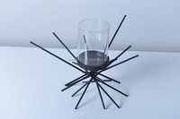 11A227 NESTLE CANDLE HOLDER WITH GLASS PIPE