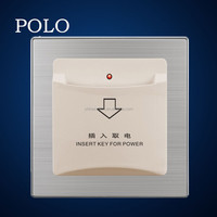 dedicated hotel energy saver card switch stainless brushed PC material energy saver card switch