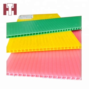 Polypropylene pp plastic corflute wavy corrugated hollow sheets