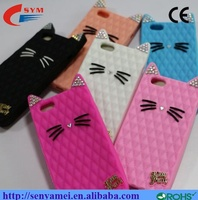 wholesale silicon diamond cover cat case for iphone 6 6s plus