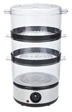 Mini electric food steamer/electric food steamer/3 tier/ 6L