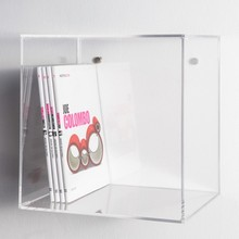 Clear Acrylic Wall Cube Shelves 30x30x20 Lucite Wall Mounted Book Shelf