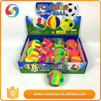 China manufacturer rubber light up kids bounce back ball