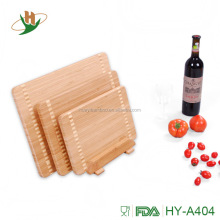 3 pieces of Bamboo Cutting Board for cutting different food Bamboo Chopping Board with Sets