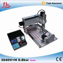 New 4axis CNC 3040 800W cnc machinery with Multifunction control box for wood metal stone