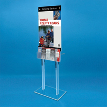 Clear Acrylic 5 Pocket Window Mount Postcard Holder Display Leaflet Poster