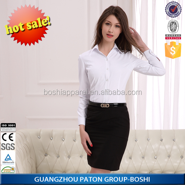 Custom Fashion Design Ladies Long Shirt With Trousers