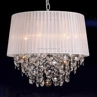 Crystal Chandelier With Fabric Shade Led Lamp Pendant Lighting Crystal Lamp Crystal Lighting Modern Wedding Lighting CZ1048/4W
