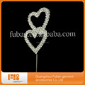 Double heart cake topper funny cake toppers for crystal wedding cake decoration