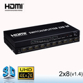 Remote video HDMI splitter switcher 2 in 8 out