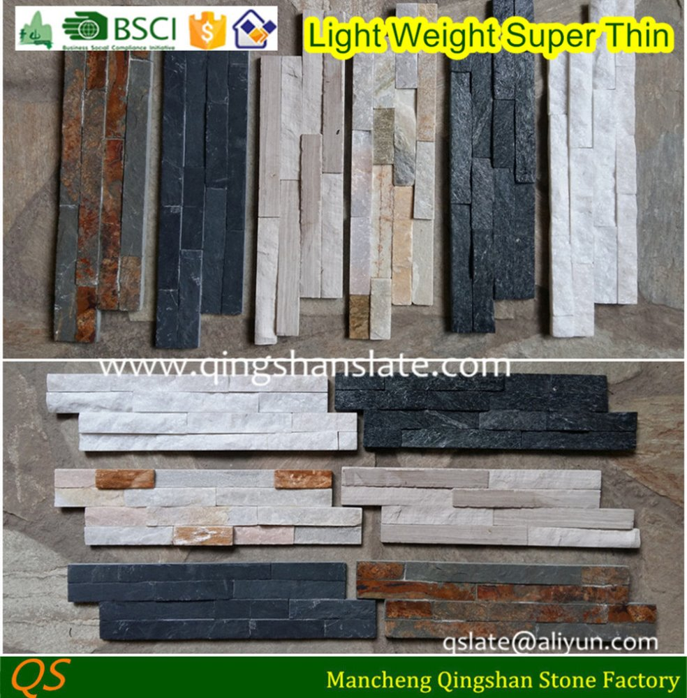 light weight super thin cultured z brick stone