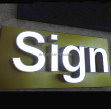 embossing acrylic letter sign light box display using for advertising