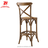 Antique Event Solid Wood Nightclud Cross Back Bar Chair ZJC0007g