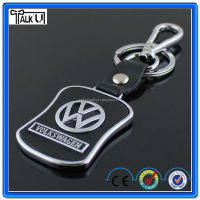 High quality metal Volkswagen VW Car Logo Keyring/Car Logo Leather Keychain/Leather Car Logo Keychain