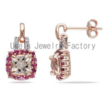 natural pink diamond earrings pink hoop earrings cheap jewelry pink pearl earrings