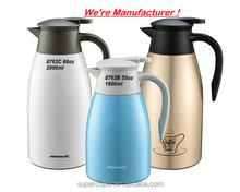 Super style Durable vacuum insulated all stainless steel coffee kettle air pot thermos jug 55oz 1600ml