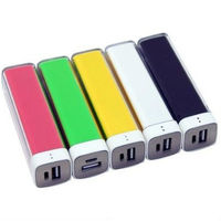 2013 most popular gift 2200mah lipstick mobile power bank manufacturer