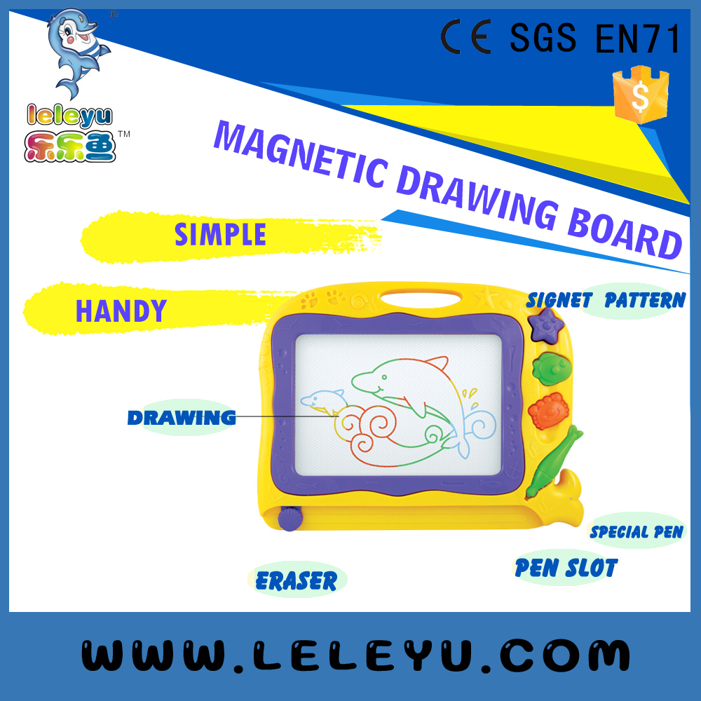 Children Educational Toys kids magic education magnetic drawing board cartoon style house shape writing board for kids leanring