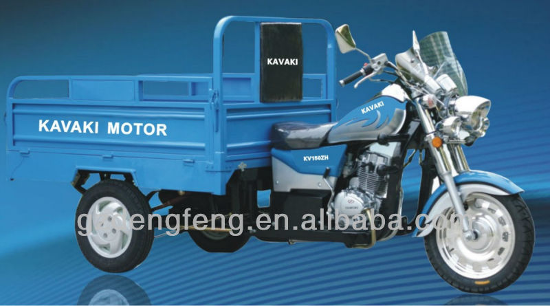 New Design 150cc&200cc Sky blue MTR CargoTricycle KV150ZH-E4 Factory direct sales Three wheel motorcyle