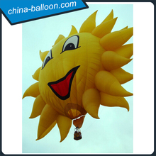 Attractive manned air balloon/cute Sunlight hot air model for self driving