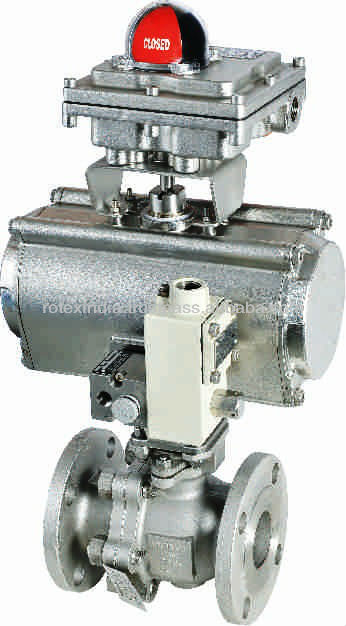 Stainless Steel Pneumatic Ball Valve/ Ball Valve