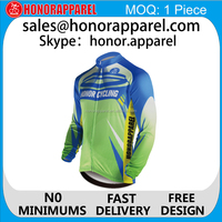 Sublimation custom long sleeve cycling jersey sets, cycling wear, riding suit bicycle jerseys Shirt honorapparel