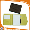Wholesale waterproof hard handmade a5 leather cheque book cover